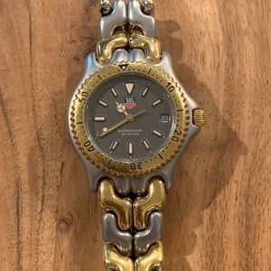 Vintage Men's Silver and Gold Tag Heuer Watch